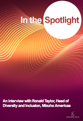 In the Spotlight: An interview with Ronald Taylor, Head of Diversity & Inclusion, Mizuho Americas