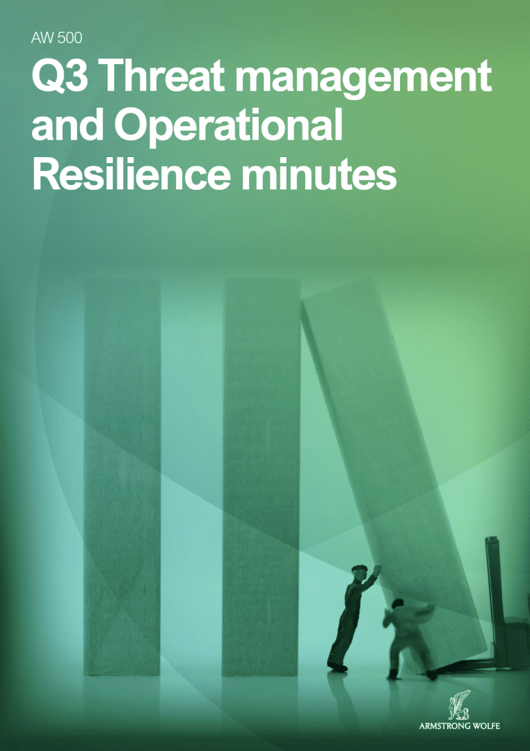 Q3 Threat management and Operational Resilience minutes