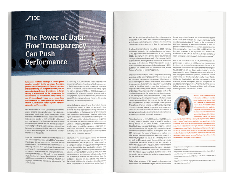 The Power of Data: How Transparency Can Push Performance